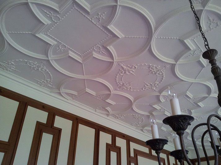 ceiling in period property by decorating specialist in Nottingham
