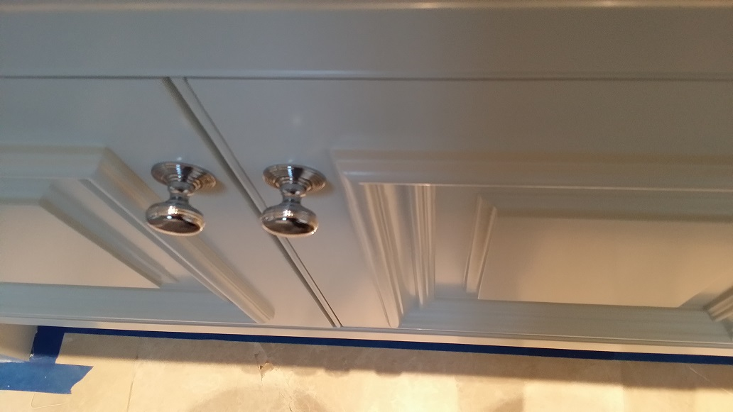 Hand painting bespoke kitchens in Nottingham