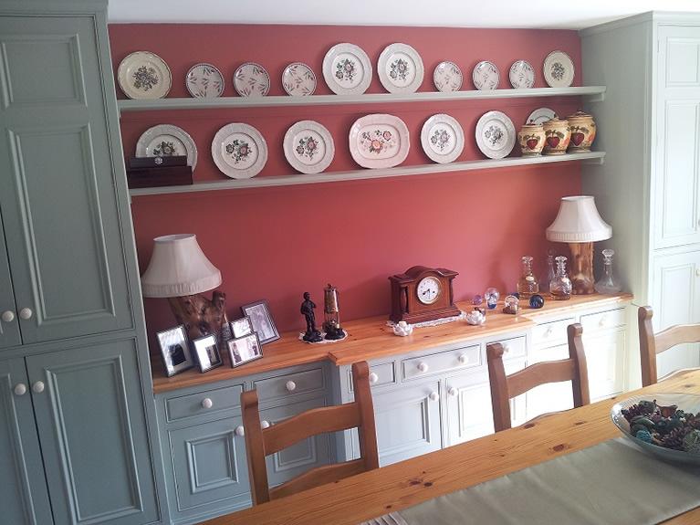 hand painted farmhouse dresser