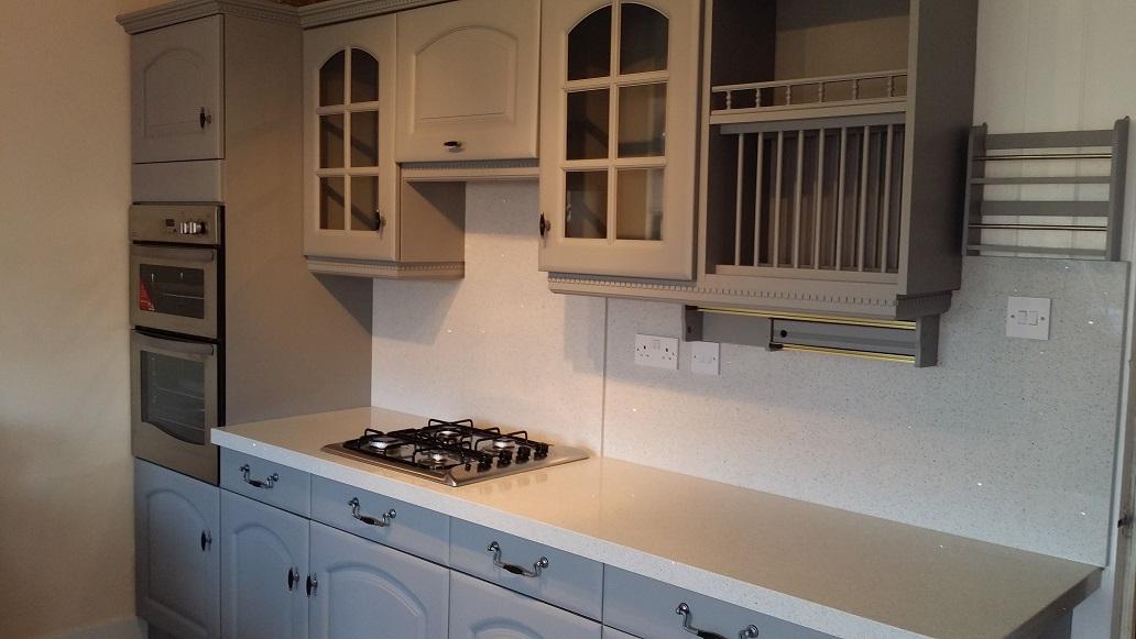 hand painting kitchen doors