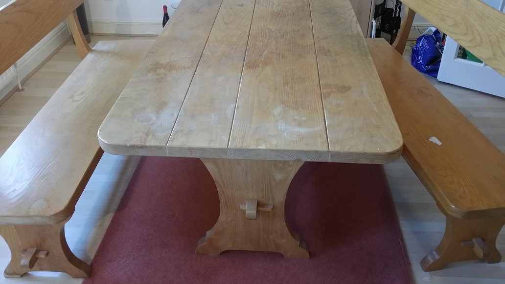 sanding oak table tops