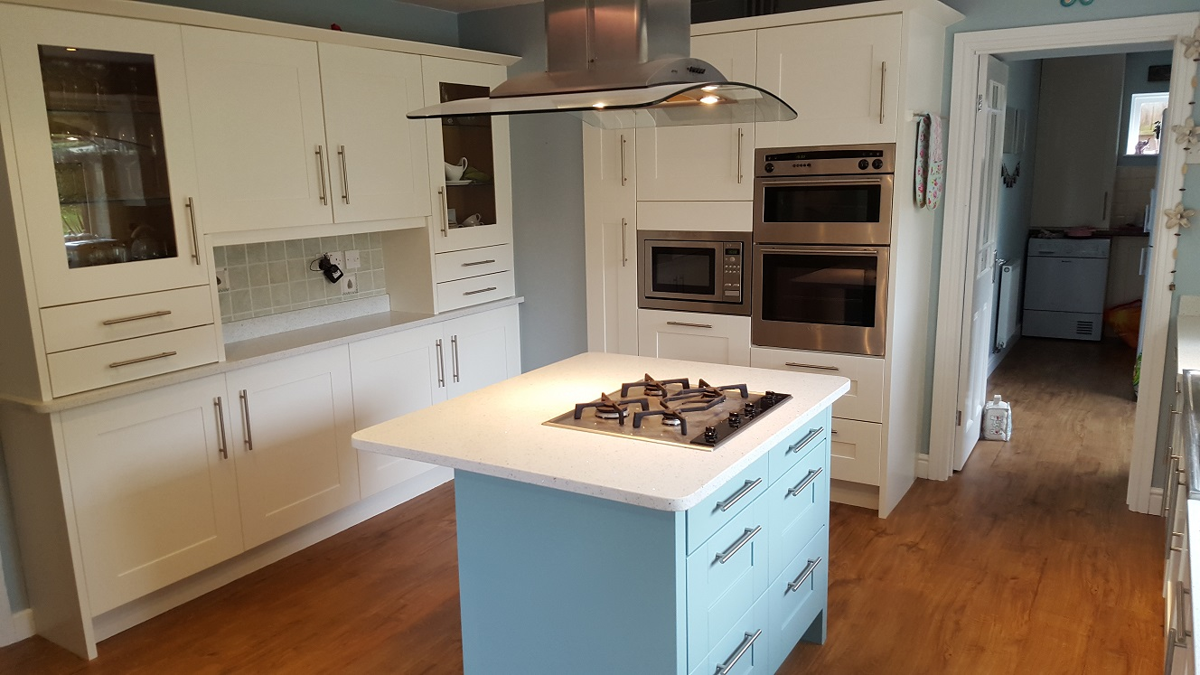 Painted Oak Kitchen In Sheffield