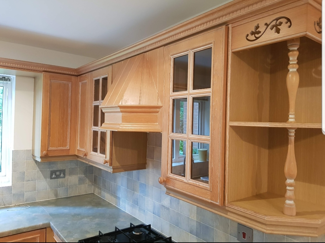 pinting kitchen cabinets Derbyshire