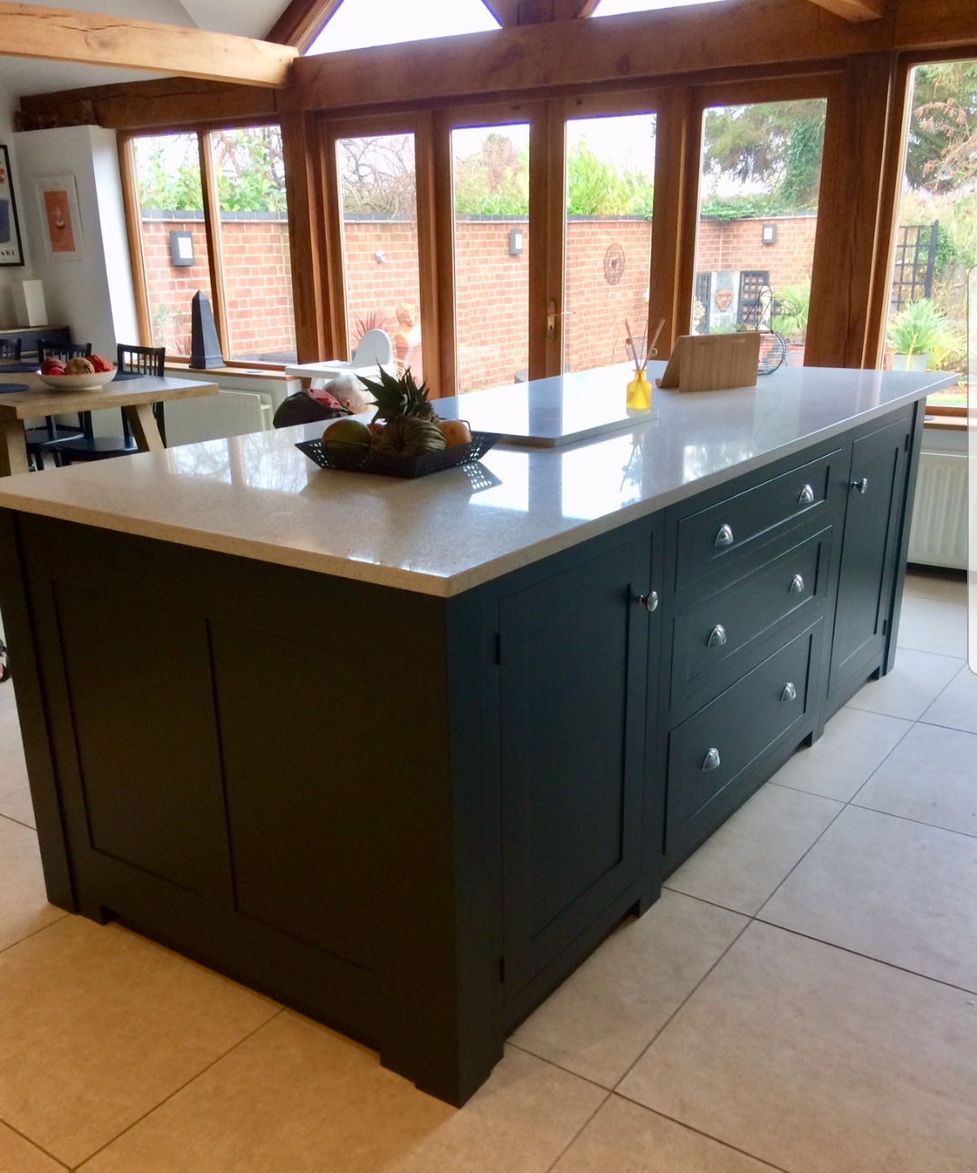 Black painted Island unit Derbyshire